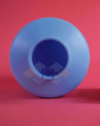 Envase azul plástico 500 g para pegamento forma cilíndrica -FJ Plastic